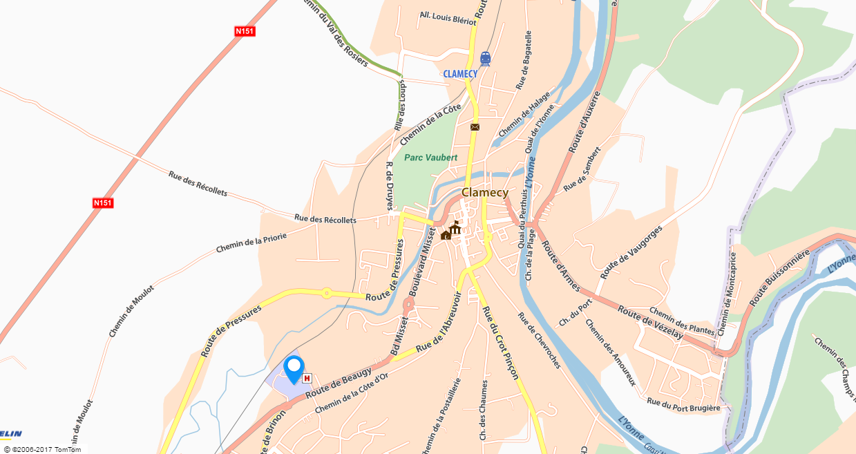 Plan ville Clamecy